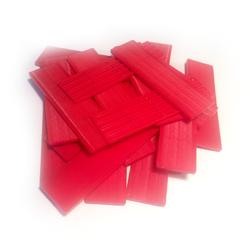Verglasungsklötze rot (Stärke 3 mm)
